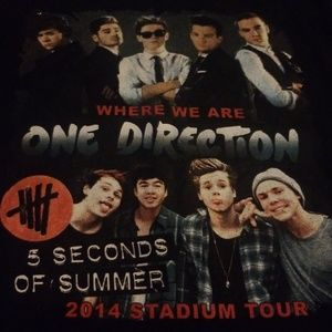 One Direction concert tshirt